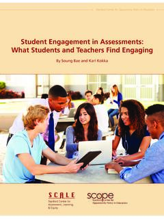 Student Engagement in Assessments: What Students and ...