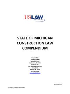 COMPENDIUM OF MICHIGAN CONSTRUCTION LAW