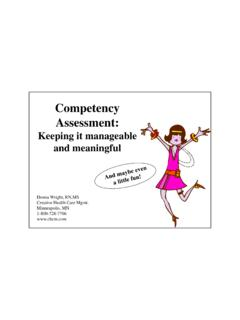 Competency Assessment - OHE