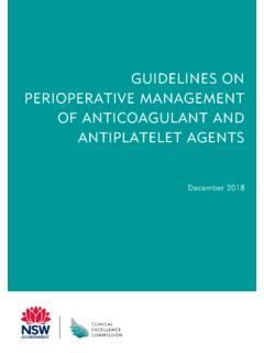 GUIDELINES ON PERIOPERATIVE MANAGEMENT OF …