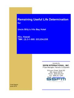 Remaining Useful Life Determination - dlnr.hawaii.gov