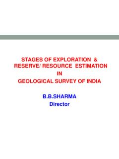 STAGES OF EXPLORATION & RESERVE/ RESOURCE …