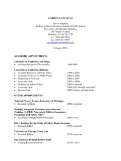 CURRICULUM VITAE - Public Policy Institute of …