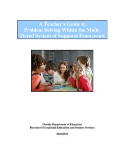 A Teacher's Guide to Problem Solving Within the …