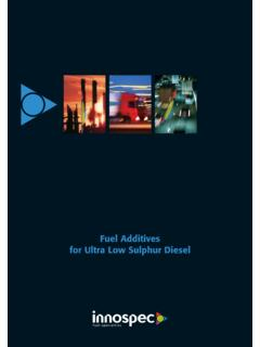 Fuel Additives for Ultra Low Sulphur Diesel - Innospec