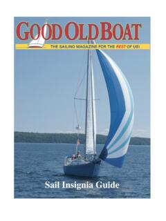 Mainsail Insignia Guide - Page 1 - Good Old Boat