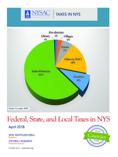 Federal, State, and Local Taxes in NYS - nysac.org
