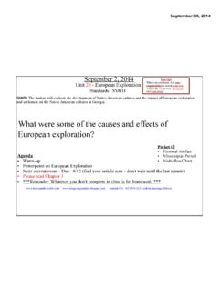 What were some of the causes and effects of European ...