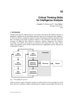 Critical Thinking Skills for Intelligence Analysis - Open