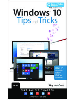 Windows® 10 Tips and Tricks - pearsoncmg.com