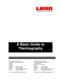 A basic guide to Thermography - L-IR Korea
