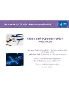 Addressing the Opioid Epidemic in Primary Care - AMSA