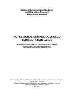 PROFESSIONAL SCHOOL COUNSELOR CONSULTATION …