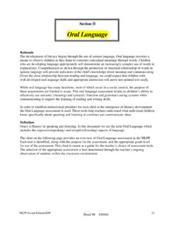 Oral Language - Macomb Intermediate School …