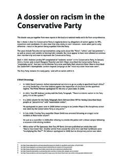 A dossier on racism in the Conservative Party