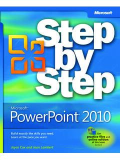 Microsoft PowerPoint 2010 Step by Step eBook