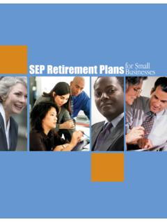 SEP Retirement Plans for Small Businesses - irs.gov