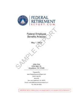 Federal Employee Benefits Analysis