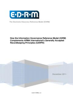 Information Governance Reference Model (IGRM) …