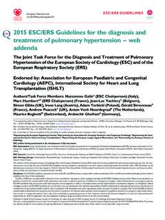 2015 ESC/ERS Guidelines for the diagnosis and treatment of ...
