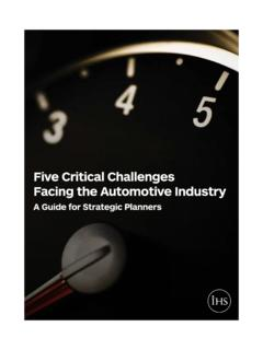 Five Critical Challenges Facing the Automotive Industry