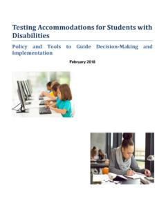 Testing Accommodations for Students with Disabilities ...
