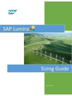 SAP Lumira Sizing Guide - Community Archive
