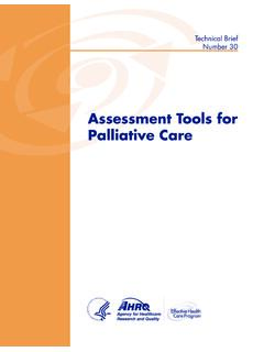 Assessment Tools for Palliative Care