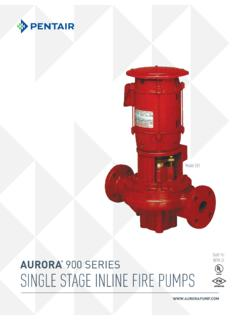 Built Per AURORA 900 SerieS NFPA 20 SINGLE STAGE INLINE ...