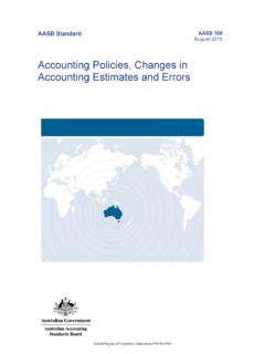 Accounting Policies, Changes in Accounting Estimates and ...