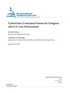 Cybercrime: Conceptual Issues for Congress and U.S. Law ...
