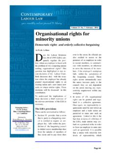 Contemporary Labour Law Vol. 23 No. 7 ... - …