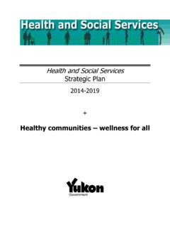 Yukon Health & Social Services Strategic Plan 2014-2019