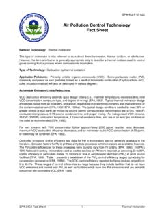 Air Pollution Control Technology Fact Sheet - US EPA