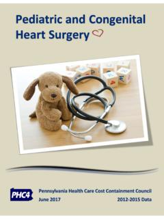 Pediatric and Congenital Heart Surgery - PHC4