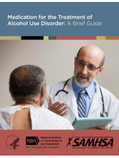 Medication for the Treatment of Alcohol Use Disorder: A ...