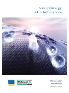 Nanotechnology: a UK Industry View
