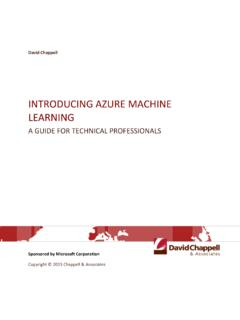 Introducing Azure Machine Learning - …