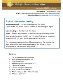 Ededit Topics for September meeting - beehive.org.nz