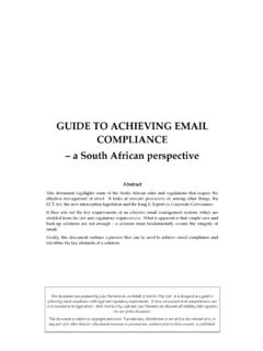 GUIDE TO ACHIEVING EMAIL COMPLIANCE African …