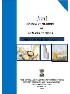 MANUAL OF METHODS OF ANALYSIS OF FOODS MILK …