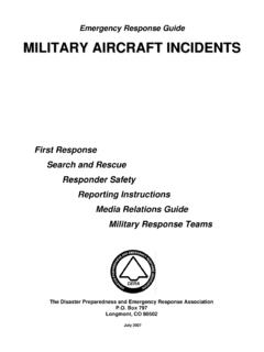 Military Aircraft Incident Response Guide - DERA