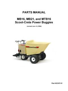 PARTS MANUAL MB16, MB21, and MTB16 Scoot-Crete …