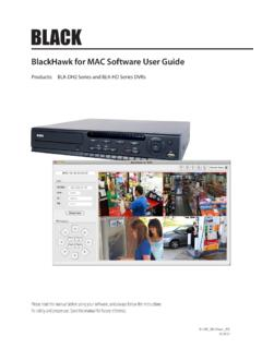 BlackHawk for MAC Software User Guide for BLK-DH20 …