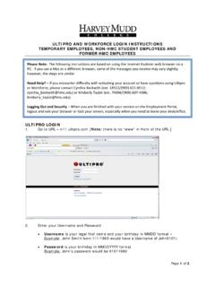 ULTIPRO AND WORKFORCE LOGIN INSTRUCTIONS …