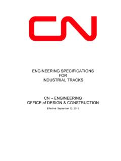 ENGINEERING SPECIFICATIONS FOR INDUSTRIAL TRACKS CN ...