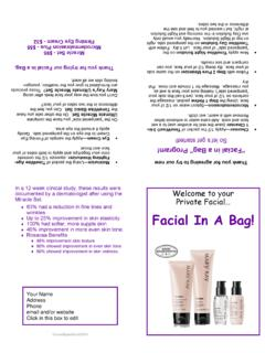 Facial In A Bag! - donnabayes.com