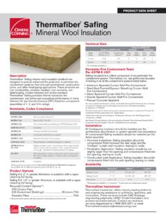 Thermafi ber Safi ng Mineral Wool Insulation - Thermafiber