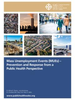 Mass Unemployment Events (MUEs) – Prevention …