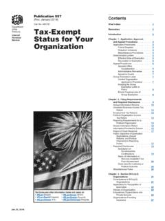 Organization Status for Your Tax-Exempt